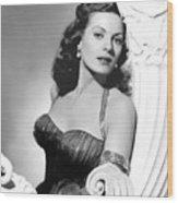 Flame Of Araby, Maureen Ohara, 1951 Wood Print