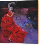 Flamenco 88 Wood Print