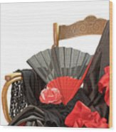 Flamenco Clothing  Wood Print