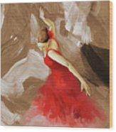 Flamenco Dance Women 02 Wood Print