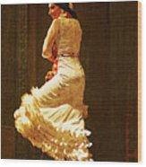 Flamenco Dancer #20 - The White Dress Wood Print