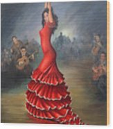 Flamenco Dancer Wood Print