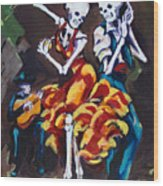 Flamenco Dancers II Wood Print