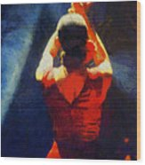 Flamenco Dolores Wood Print