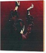Flamenco Fire Wood Print