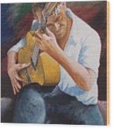 Flamenco Guitar Wood Print