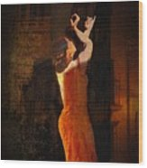 Flamenco In The Streets Wood Print