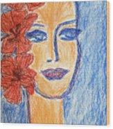 Flamenco Nights - Alicia Wood Print