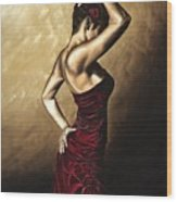 Flamenco Woman Wood Print