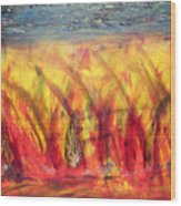 Flames Inferno Wood Print