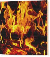 Flames Of Imagination Wood Print