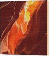 Flames Under Arizona  Wood Print