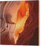 Flames Under The Arizona Desert Wood Print