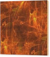 Flaming Background Wood Print