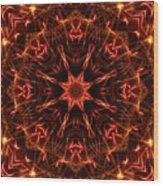 Flaming Catherine Wheel Wood Print