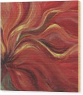 Flaming Flower Wood Print