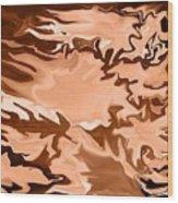 Flaming Horse   -023 Wood Print