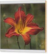 Flaming Lily Wood Print