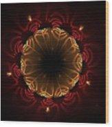 Flaming Night Flower Wood Print