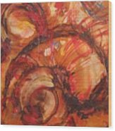 Flaming  Red Shell Wood Print