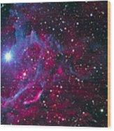 Flaming Star Nebula Wood Print