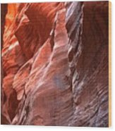 Flaming Walls Of Sandstone Wood Print