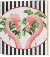 Flamingo Amore 5 Wood Print