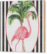 Flamingo Amore 7 Wood Print