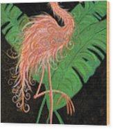 Flamingo Art Deco  Wood Print
