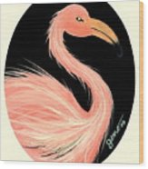 Flamingo Deco Wood Print