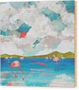 Flamingo Dream Wood Print