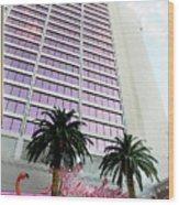 Flamingo Hotel Neon Sign Las Vegas Wood Print