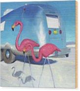 Flamingo Migration Wood Print