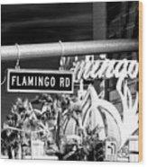 Flamingo Road Las Vegas Wood Print
