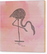 Flamingo4 Wood Print