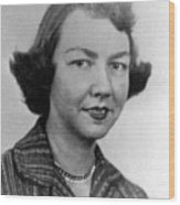 Flannery Oconnor, 1950s Wood Print