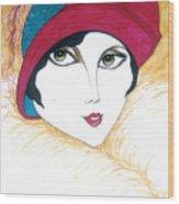 Flapper Girl 1 Wood Print
