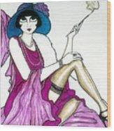 Flapper Girl 4 Wood Print