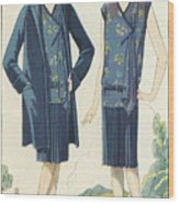 Flappers In Frocks And Coats, 1928  Wood Print