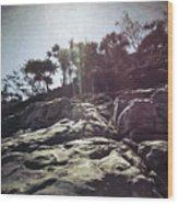 Flare Rock Wood Print
