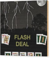 Flash Deal  Poker Cards Wood Print