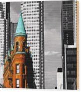Flat Iron Building Toronto Wood Print by John  Bartosik