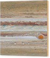 Flat Map Of Jupiter Wood Print
