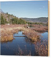 Flat Mountain Ponds - Sandwich Wilderness White Mountains Nh Wood Print