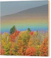 Flat Rainbow Wood Print