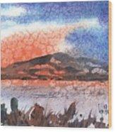 Flathead Lake Montana Wood Print