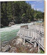 Flathead River Rapids Wood Print
