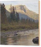 Flathead River Wood Print