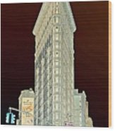Flatiron Building Inverted Wood Print