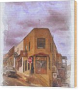 Flatiron Building Of Jerome Arizona Wood Print